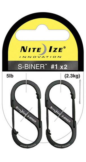 Nite Ize S-Biner Size #1 2-Pack Black (01)